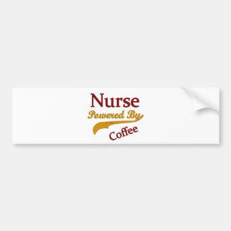 Enfermera accionada por el café etiqueta de parachoque