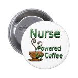 Enfermera accionada por el café pins