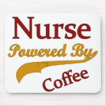 Enfermera accionada por el café tapetes de raton