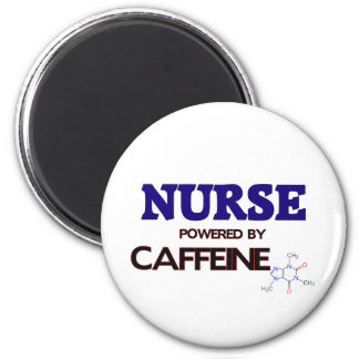 Enfermera accionada por el cafeína imán redondo 5 cm