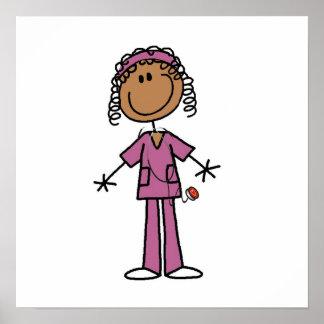 Enfermera afroamericana poster