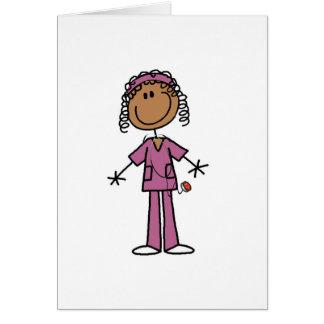 Enfermera afroamericana tarjeta pequeña