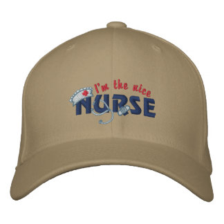 Enfermera agradable gorra de béisbol bordada