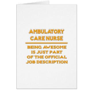 Enfermera ambulativa del cuidado.  Descripción de Tarjeta De Felicitación