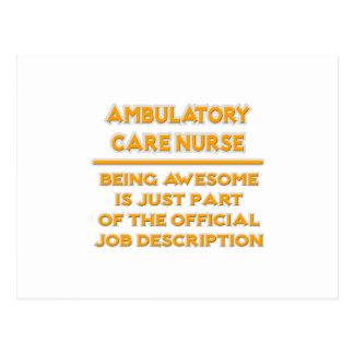 Enfermera ambulativa del cuidado.  Descripción de Tarjetas Postales