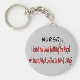 """Enfermera """"ángel de la muerte""""---Regalos divertido Llaveros Personalizados"""
