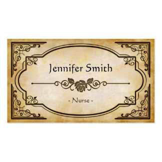 Enfermera - antigüedad elegante del vintage tarjeta de negocio