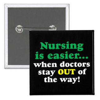 Enfermera - apenas estancia apartada pin cuadrada 5 cm