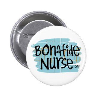 Enfermera auténtica pin redondo de 2 pulgadas