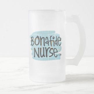 Enfermera auténtica taza de cristal