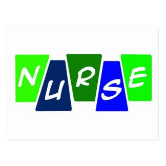 Enfermera - azulverde tarjetas postales