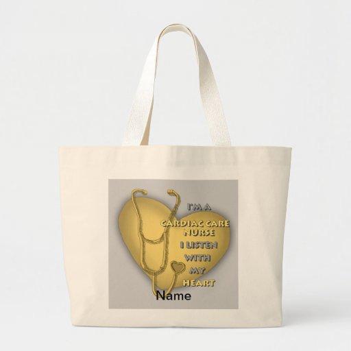 Enfermera cardiaca amarilla del cuidado bolsa