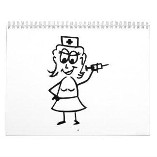 Enfermera cómica calendario
