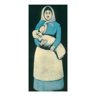 Enfermera con el bebé de Niko Pirosmani Tarjetas Publicitarias
