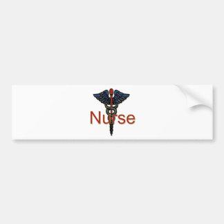 Enfermera con el caduceo pegatina para auto
