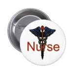 Enfermera con el caduceo pins