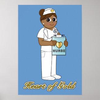 Enfermera con el corazón de oro póster