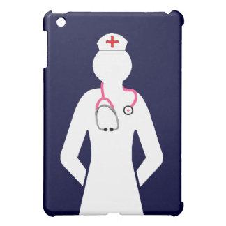 Enfermera con la silueta del estetoscopio