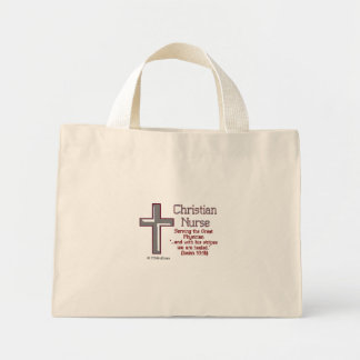 Enfermera cristiana Cross2 Bolsas De Mano