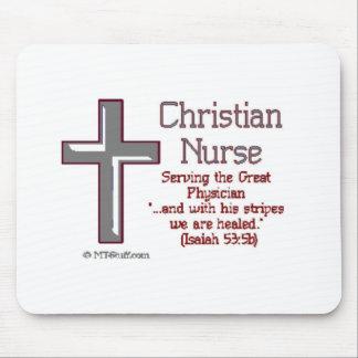 Enfermera cristiana Cross2 Tapetes De Raton