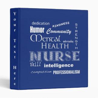 """Enfermera-Cualidades/arándano de la salud mental Carpeta 1"""""""
