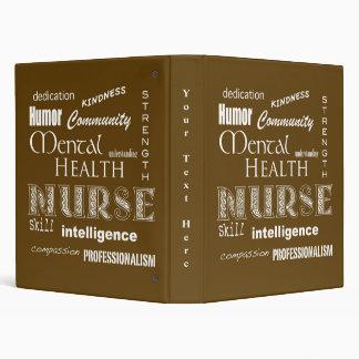 """Enfermera-Cualidades/Brown de la salud mental Carpeta 1"""""""