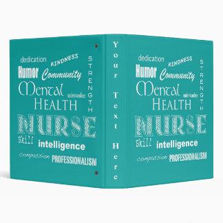 """Enfermera-Cualidades de la salud mental/azulverde Carpeta 1"""""""