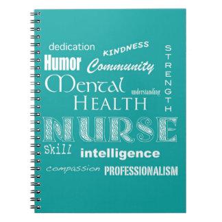 Enfermera-Cualidades de la salud mental/azulverde Notebook
