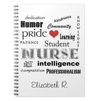 Enfermera-Cualidades del estudiante+El corazón/per Note Book