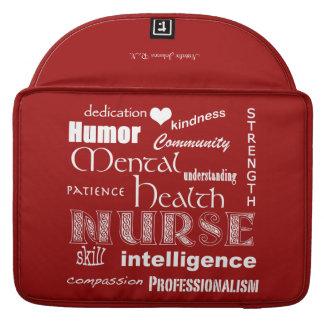Enfermera-Cualidades/nombre/granero Red/15 de la Fundas Para Macbook Pro
