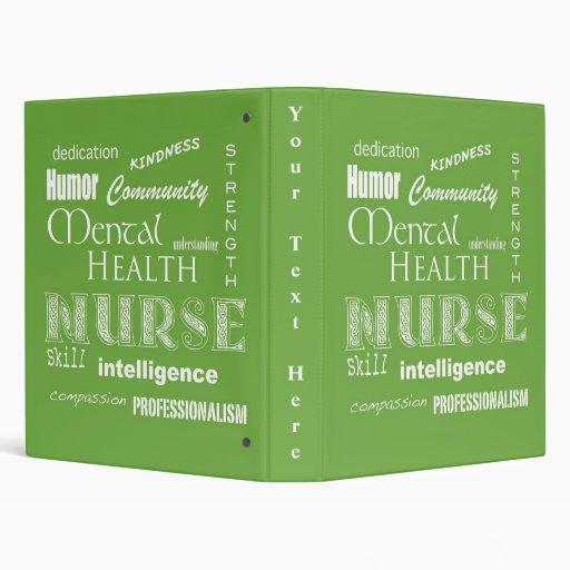 Enfermera-Cualidades/verde lima de la salud mental