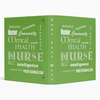 """Enfermera-Cualidades/verde lima de la salud mental Carpeta 1"""""""
