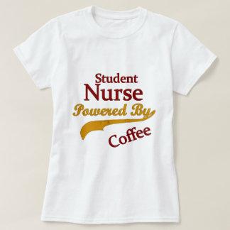 Enfermera de estudiante accionada por el café remera
