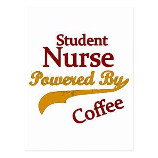 Enfermera de estudiante accionada por el café postales