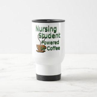 Enfermera de estudiante accionada por el café tazas
