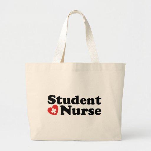 Enfermera de estudiante bolsa tela grande