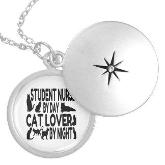 Enfermera de estudiante del amante del gato medallones