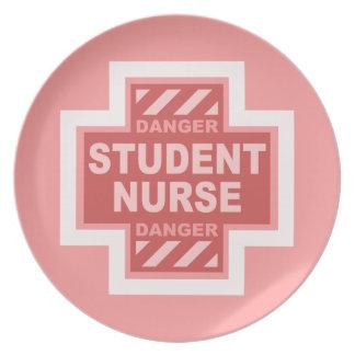 ¡Enfermera de estudiante del peligro! - rosa Plato De Cena
