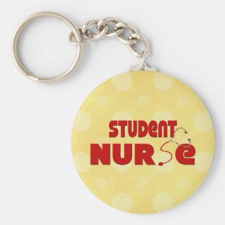 Enfermera de estudiante llavero redondo tipo pin