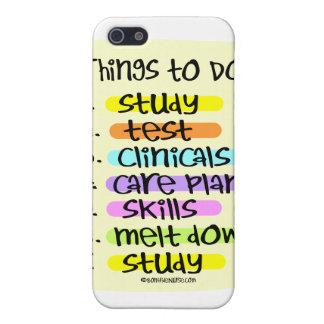 Enfermera de estudiante para hacer la lista iPhone 5 protectores