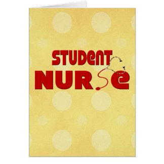 Enfermera de estudiante tarjeta de felicitación