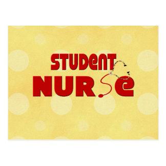 Enfermera de estudiante tarjeta postal