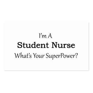 Enfermera de estudiante tarjetas de visita