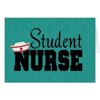 Enfermera de estudiante tarjetón