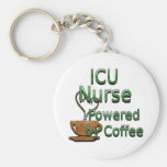 Enfermera de ICU accionada por el café Llaveros Personalizados