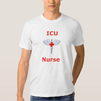 Enfermera de ICU - caduceo Poleras