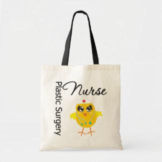 Enfermera de la cirugía plástica del polluelo v1 d bolsa de mano