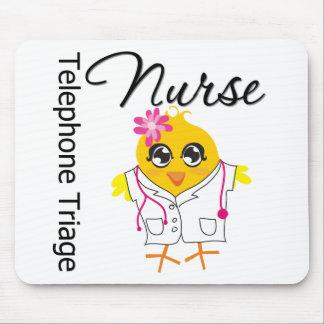 Enfermera de la clasificación del teléfono del pol alfombrilla de raton