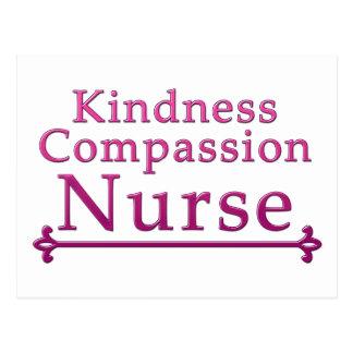 Enfermera de la compasión de la amabilidad postal