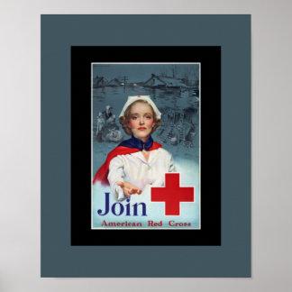 Enfermera de la Cruz Roja de la guerra mundial del Póster